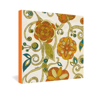 DENY Designs Valentina Ramos Orange Flowers Gallery Wrapped Canvas