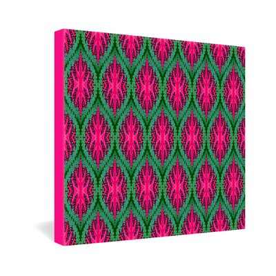 DENY Designs Wagner Campelo Ikat Leaves Gallery Wrapped Canvas