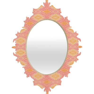 DENY Designs Cori Dantini Orange Ikat 4 Baroque Mirror