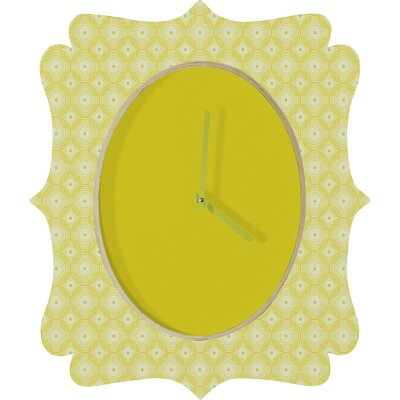 DENY Designs Caroline Okun Yellow Spirals Clock
