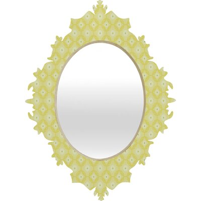 DENY Designs Caroline Okun Yellow Spirals Baroque Mirror