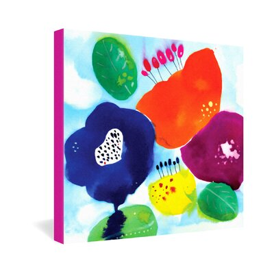 DENY Designs CayenaBlanca Big Flowers Gallery Wrapped Canvas