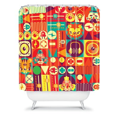 DENY Designs Chobopop Elecro Polyester Circus Shower Curtain