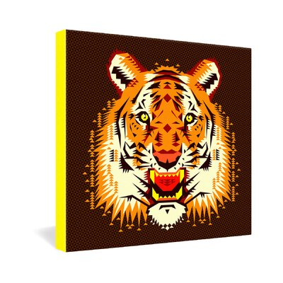 DENY Designs Chobopop Geometric Tiger Gallery Wrapped Canvas