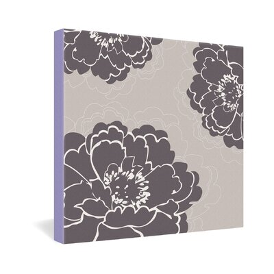 DENY Designs Caroline Okun Winter Peony Gallery Wrapped Canvas
