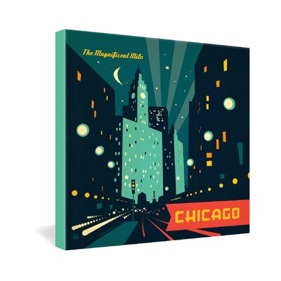 DENY Designs Anderson Design Group Chicago Mag Mile Gallery Wrapped Canvas