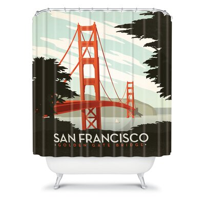 DENY Designs Anderson Design Group Woven Polyester San Francisco Shower Curtain