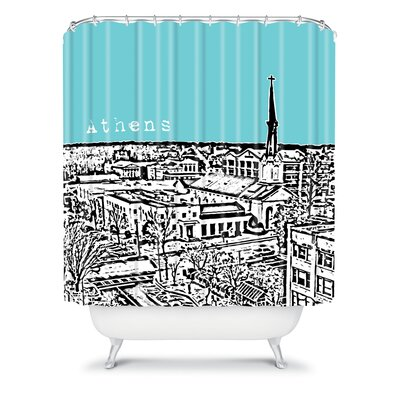 DENY Designs Bird Ave Woven Polyester Athens Shower Curtain