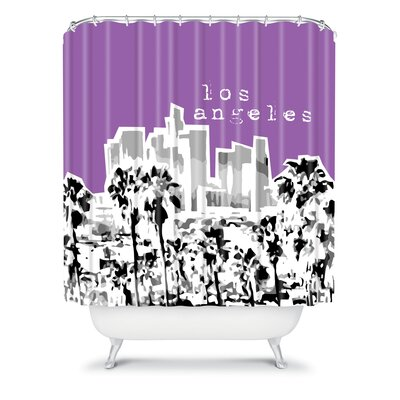 DENY Designs Bird Ave Woven Polyester Los Angeles Shower Curtain