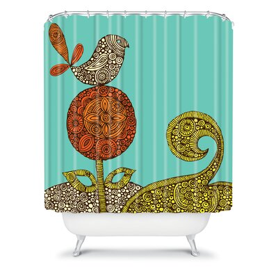 DENY Designs Valentina Ramos Polyester Bird in The Flower Shower Curtain