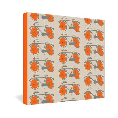 DENY Designs Mummysam Bicycles Gallery Wrapped Canvas