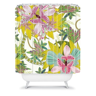 DENY Designs Sabine Reinhart Polyester Life Is Music Shower Curtain