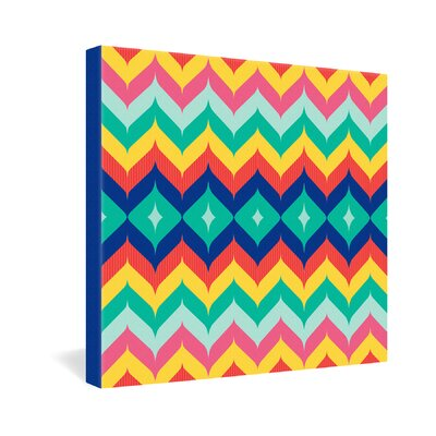 DENY Designs Juliana Curi Chevron 5 Canvas Wall Art