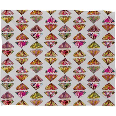 DENY Designs Bianca Green These Diamonds Are Forever Polyester Fleece Throw Blanket