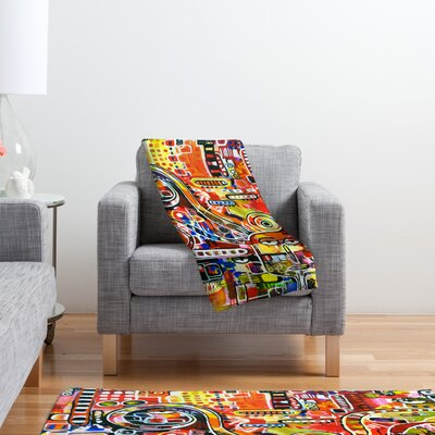 DENY Designs Robin Faye Gates It Came from Detroit Polyester Fleece Throw Blanket