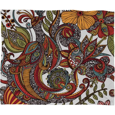 DENY Designs Valentina Ramos Paradise Bird Polyester Fleece Throw Blanket