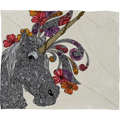 DENY Designs Valentina Ramos Unicornucopia Polyester Fleece Throw Blanket