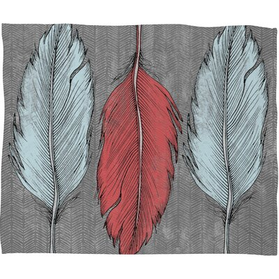 DENY Designs Wesley Bird Feathered Polyester Fleece Throw Blanket
