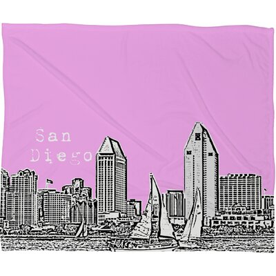 DENY Designs Bird Ave San Diego Polyester Fleece Throw Blanket