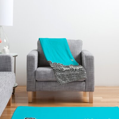 DENY Designs Bird Ave Miami Polyester Fleece Throw Blanket
