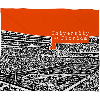 DENY Designs Bird Ave University of Florida Polyester Fleece Throw Blanket