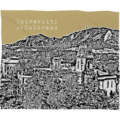 DENY Designs Bird Ave University of Colorado Polyester Fleece Throw Blanket