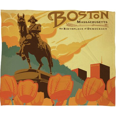 Anderson Design Group Boston Polyester Fleece Throw Blanket
