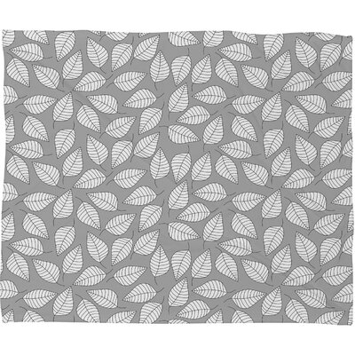 DENY Designs Bianca Green Leafy Polyester Fleece Throw Blanket