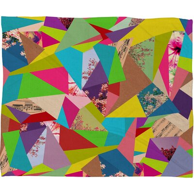 DENY Designs Bianca Green Colorful Thoughts Polyester Fleece  Throw Blanket