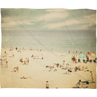 DENY Designs Shannon Clark Vintage Beach Polyester Fleece Throw Blanket