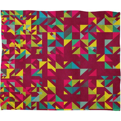 DENY Designs Arcturus Chaos 3 Polyester Fleece Throw Blanket