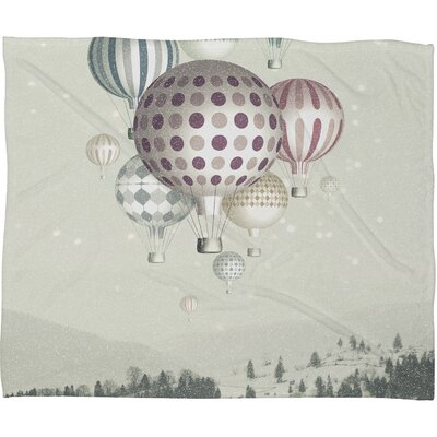 DENY Designs Belle13 Winter Dreamflight Polyester Fleece Throw Blanket