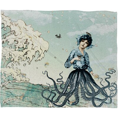 DENY Designs Belle13 Sea Fairy Polyester Fleece Throw Blanket