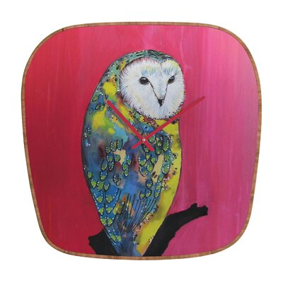 DENY Designs Clara Nilles Owl On Lipstick Clock