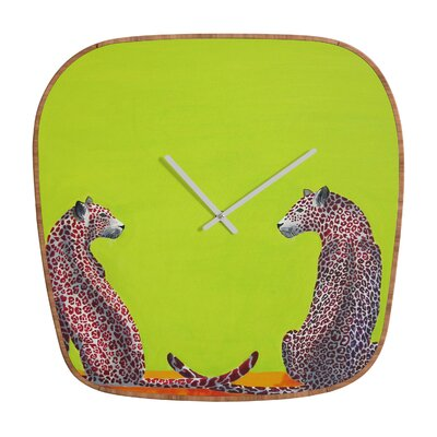 DENY Designs Clara Nilles Leopard Lovers Clock