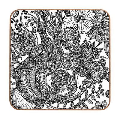 DENY Designs Valentina Ramos Bird in Flowers Black White Wall Art