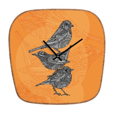 DENY Designs Valentina Ramos 3 Little Birds Clock