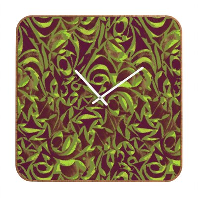 DENY Designs Wagner Campelo Abstract Garden Clock