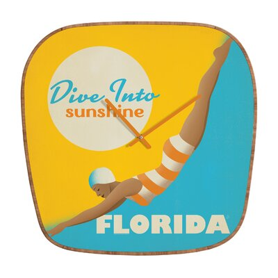 DENY Designs Anderson Design Group Dive Florida Clock