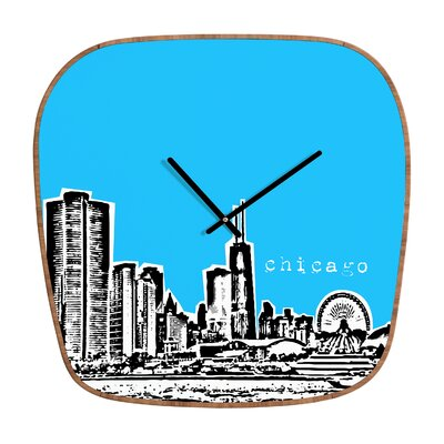DENY Designs Bird Ave Chicago Clock