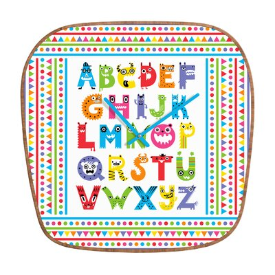 DENY Designs Andi Bird Alphabet Monsters Clock