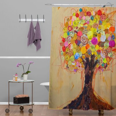 DENY Designs Elizabeth St Hilaire Nelson Summer Tree Polyester Shower Curtain