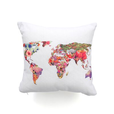 DENY Designs Bianca Green Its Your World Woven Polyester Throw Pillow