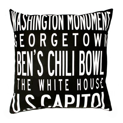 Uptown Artworks Washington DC Pillow