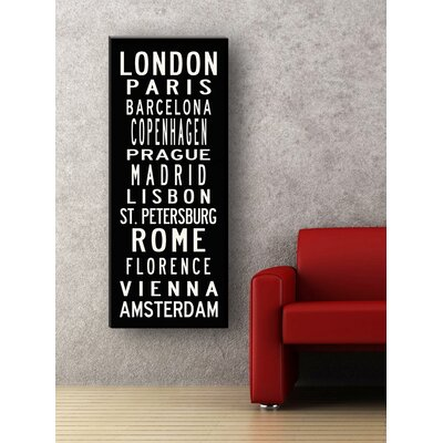 Uptown Artworks European Cities Sign Art