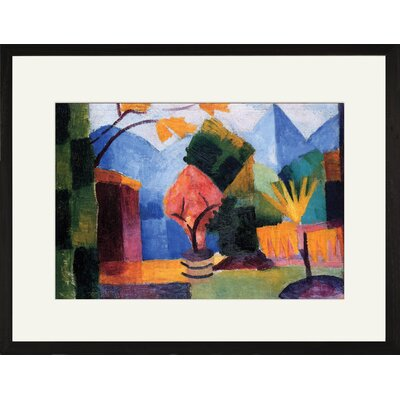 Buyenlarge Garden on the lake of Thun Framed and Matted Print