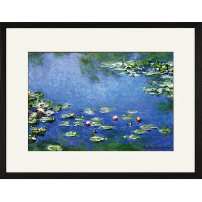 Buyenlarge Water Lilies Framed and Matted Print