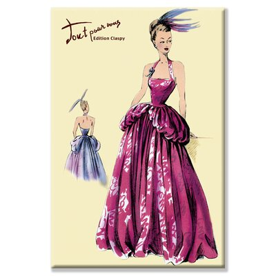 Buyenlarge Magenta Evening Gown Canvas Wall Art