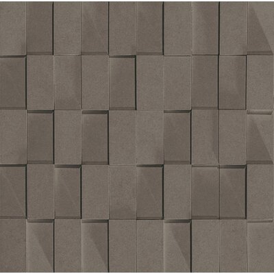 "Marca Corona Skyline 12"" x 12"" Porcelain Rectified Brick in Smoke"