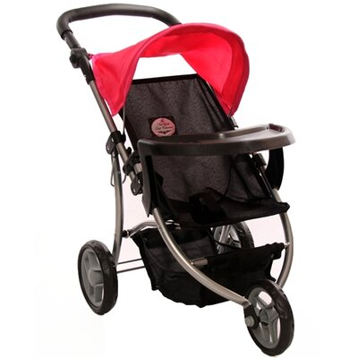 The New York Doll Collection Single Doll Jogging Stroller